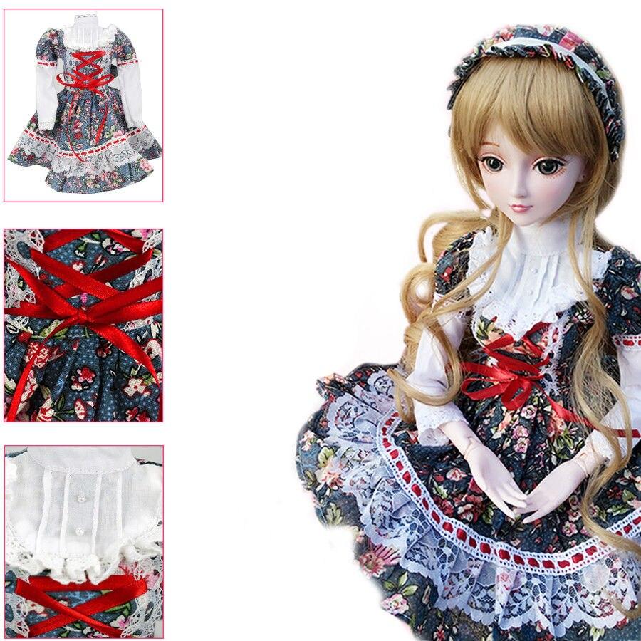 W01# Flower Prints Dress/Outfit/Clothes 1/3 SD AOD DZ BJD Dollfie [wamami] 386 black clothes suit dress 1 3 sd bjd dollfie