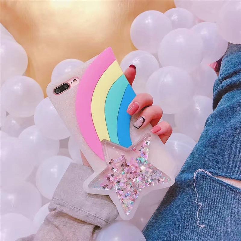 Liquid Glitter Stars Soft Silicone Case For iphone X (2)