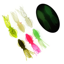 New Tender Octopus Squid Bait 30Pcs Luminous Scented Swimbait 8.5cm 6.5g Silicone Synthetic Out of doors Lure Fishing equipment