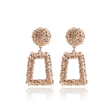 Punk Style Hollow Geometric Square Drop Dangle Earrings For Women Exaggerated Ball Charm Oorbellen Brincos Statement Jewelry цена 2017