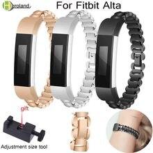 Watch Wrist Band Luxury Genuine Stainless Steel Strap For Fitbit Alta/Alta HR Tracker Accessories Metal link btacelet watchstrap все цены