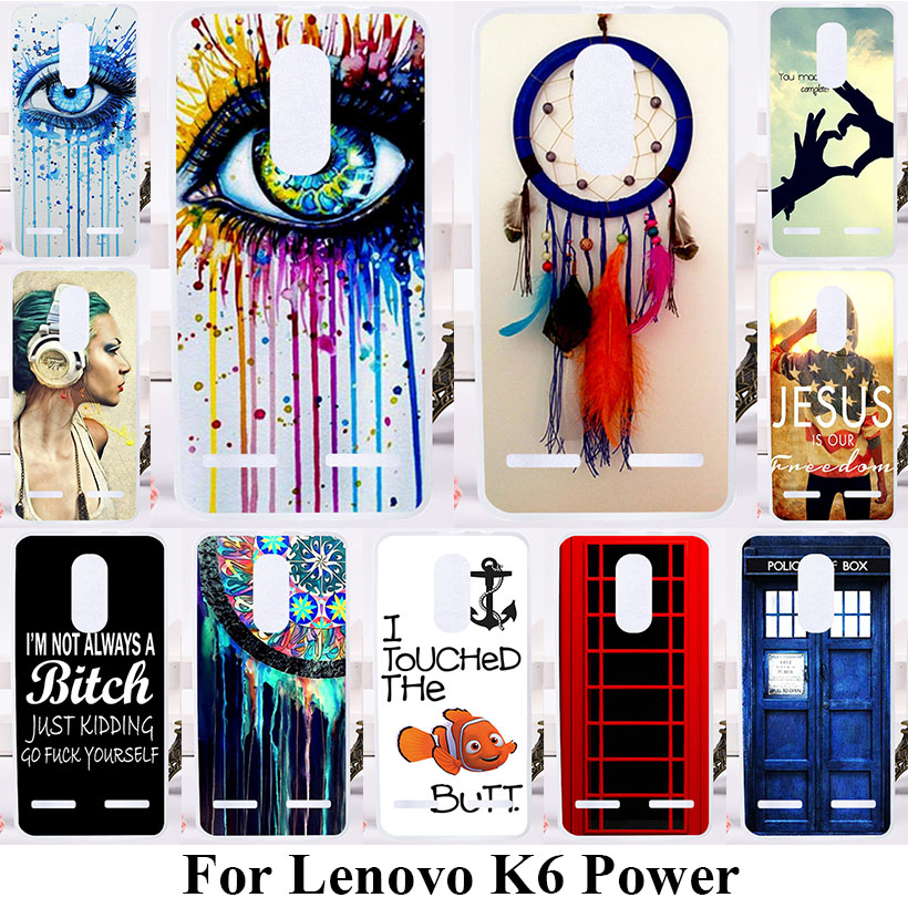 TAOYUNXI Soft TPU Phone Cases For Lenovo K6 K6 Power K33a42 5.0 inch Covers Hard Plastic Dream Cather Bags Silicone Back Cover