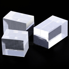 Set of 3 Clear Crystal Plexiglass Block Acrylic Display Block Necklace Jewelry Display Panel