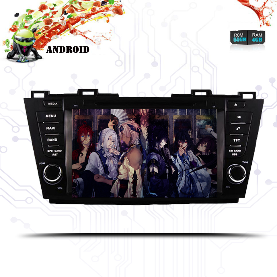 8 Core Android 9.0 RAM 4G ROM 64G <font><b>2Din</b></font> Car GPS Navigation DVD Player Unit For <font><b>Mazda</b></font> <font><b>5</b></font> Premacy 2009-2013 map and camera Head Unit image