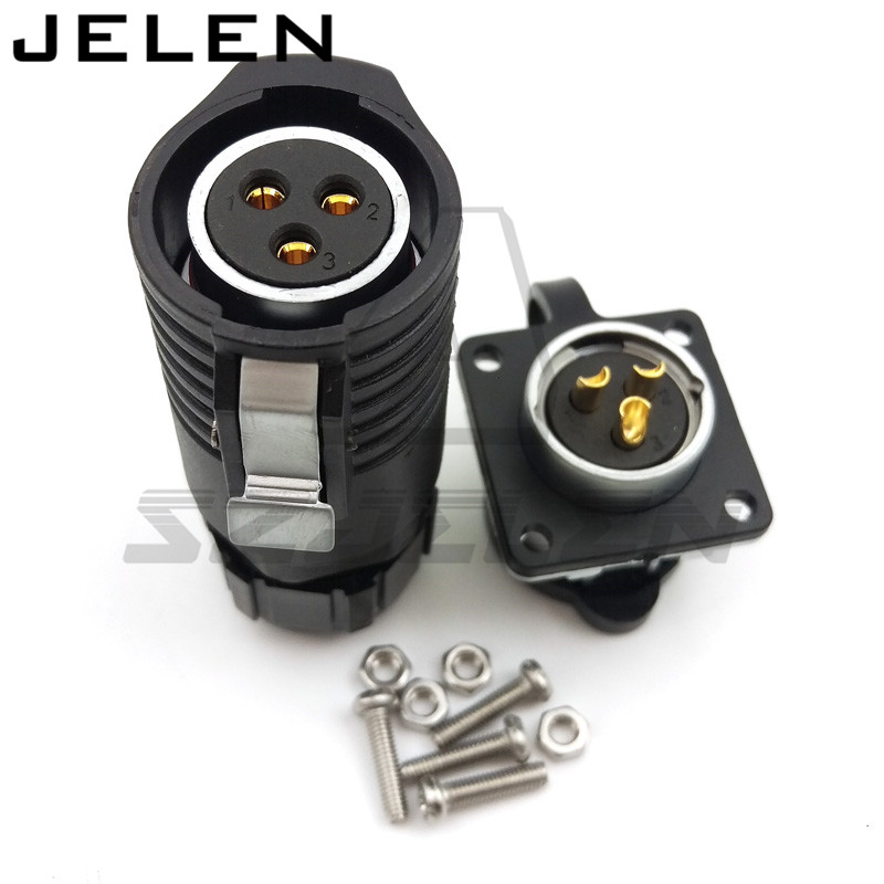 XHE20, IP67 3pin Waterproof connectors, 3-pin waterproof connector cable Industrial wire connector, 3pin socket and plug 63a 3pin 220 240v industrial waterproof concealed appliance plug waterproof grade ip67 sf 633