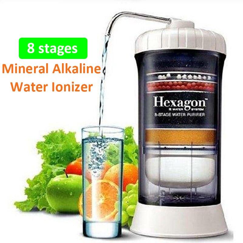 Machine alcaline ionisée de filtre à eau alcaline d'équilibre de pH bas ORP excellent purificateur d'eau du robinet de système de filtration de 8 étapes