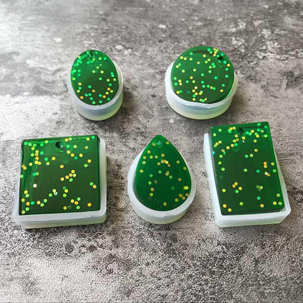 5 قطعة قالب من السيليكون اليدوية المجففة زهرة الراتنج الصب DIY أداة صنع المجوهرات