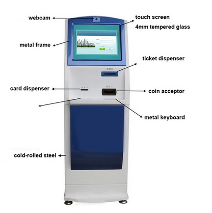 Custom Self Service Oem Manufacturer Touch Screen Kiosk With Printer Built In