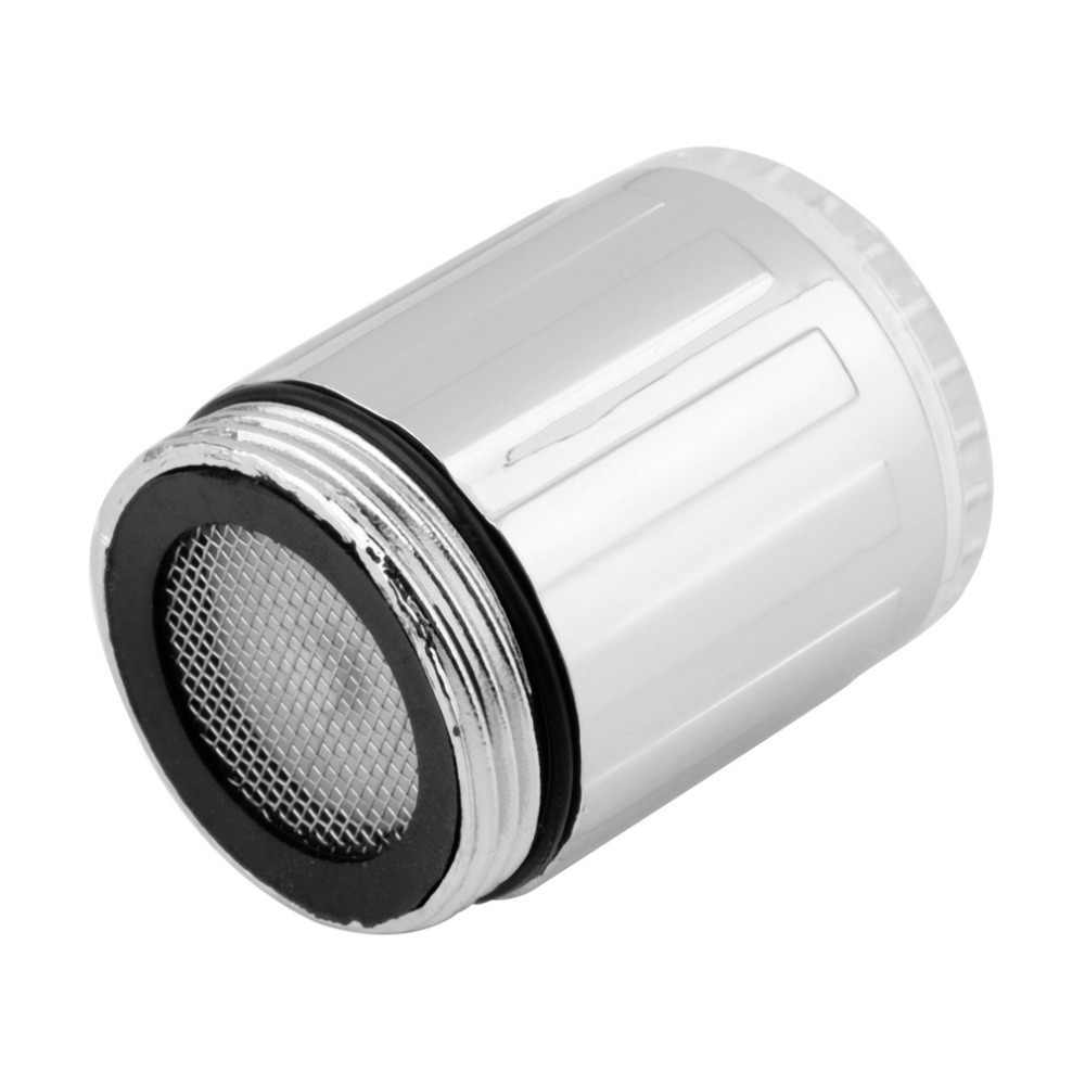 Baru 7 Warna RGB Warna-warni LED Lampu Air Glow Faucet Keran Kepala Baru