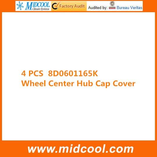 Darmowa wysyłka nowy 4 sztuk koła centrum CAP dla 8D0601165K