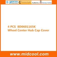 FREE SHIPPING NEW 4 PCS WHEEL CENTRE CAP FOR 8D0601165K