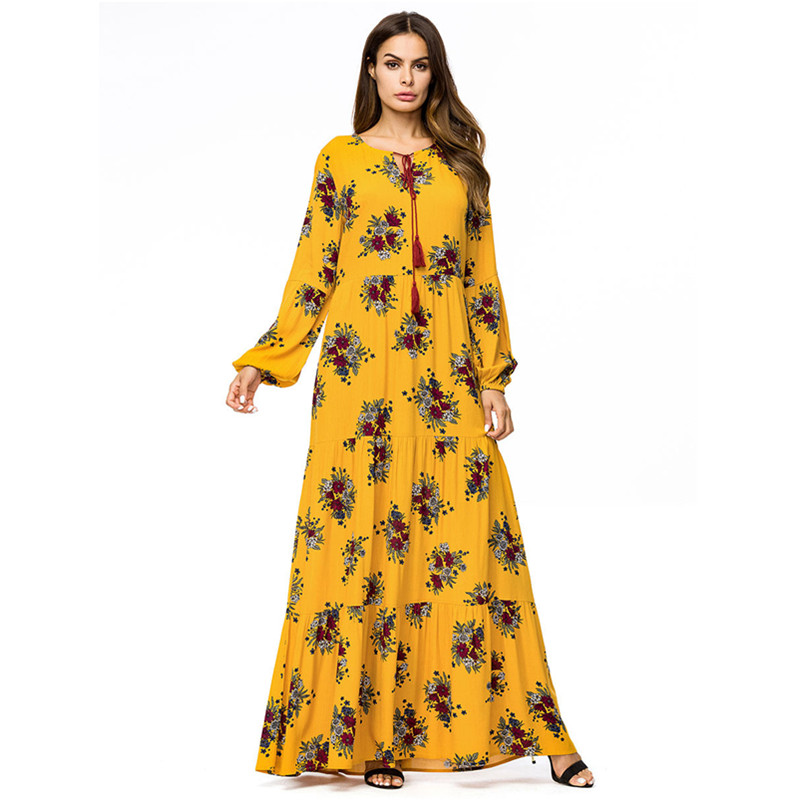 Floral patchwork maternity robe plus size pregnancy dress fashion long sleeve cotton pregnant skirt womens clothing dresses