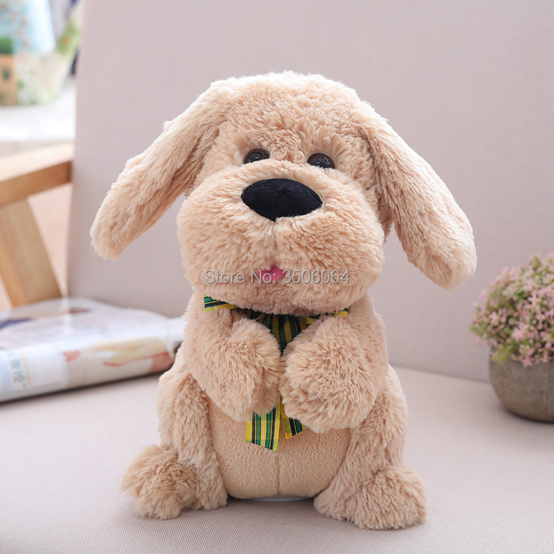 Top Quality Plush Peek A Boo  dog Toy  Singing Baby Music Toys Ears Flaping Move Interactive Doll Kids Gift