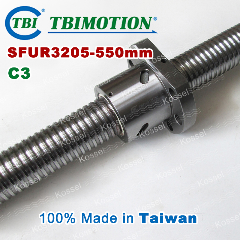 TBI 3205 C3 550mm ball screw 5mm lead with SFU3205 ballnut of SFU set end machined for high precision CNC diy kit горелка tbi sb 360 blackesg 3 м
