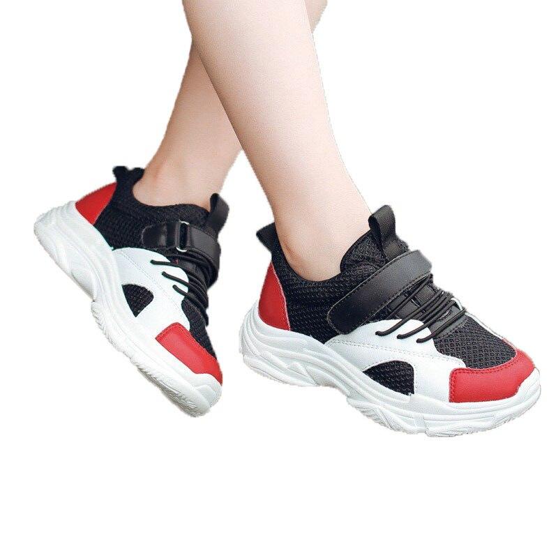 Child Casual Shoe Unisex Boys Girls Fashion Runing Shoes PU Mesh Kids Anti Slip Sport Shoes Children School Shoe #26
