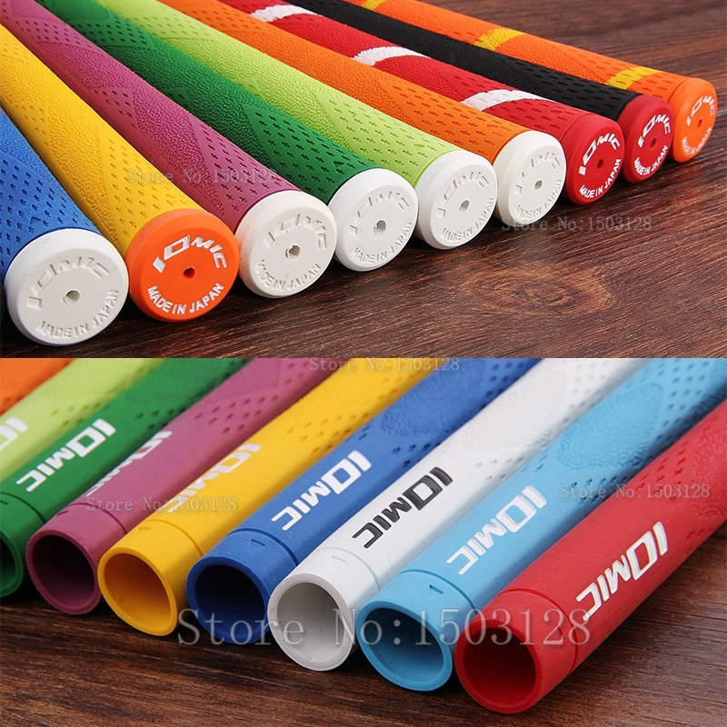 Siran Golf Iomic, bahan ion negatif, grip golf, pegangan warna-warni, tahan aus 10 pcs / lot