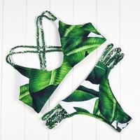 2016 New Arrival Fashion Casual Women Sexy Bandage Striped Bikini Set Swimwear Vintage Swimsuit Size S