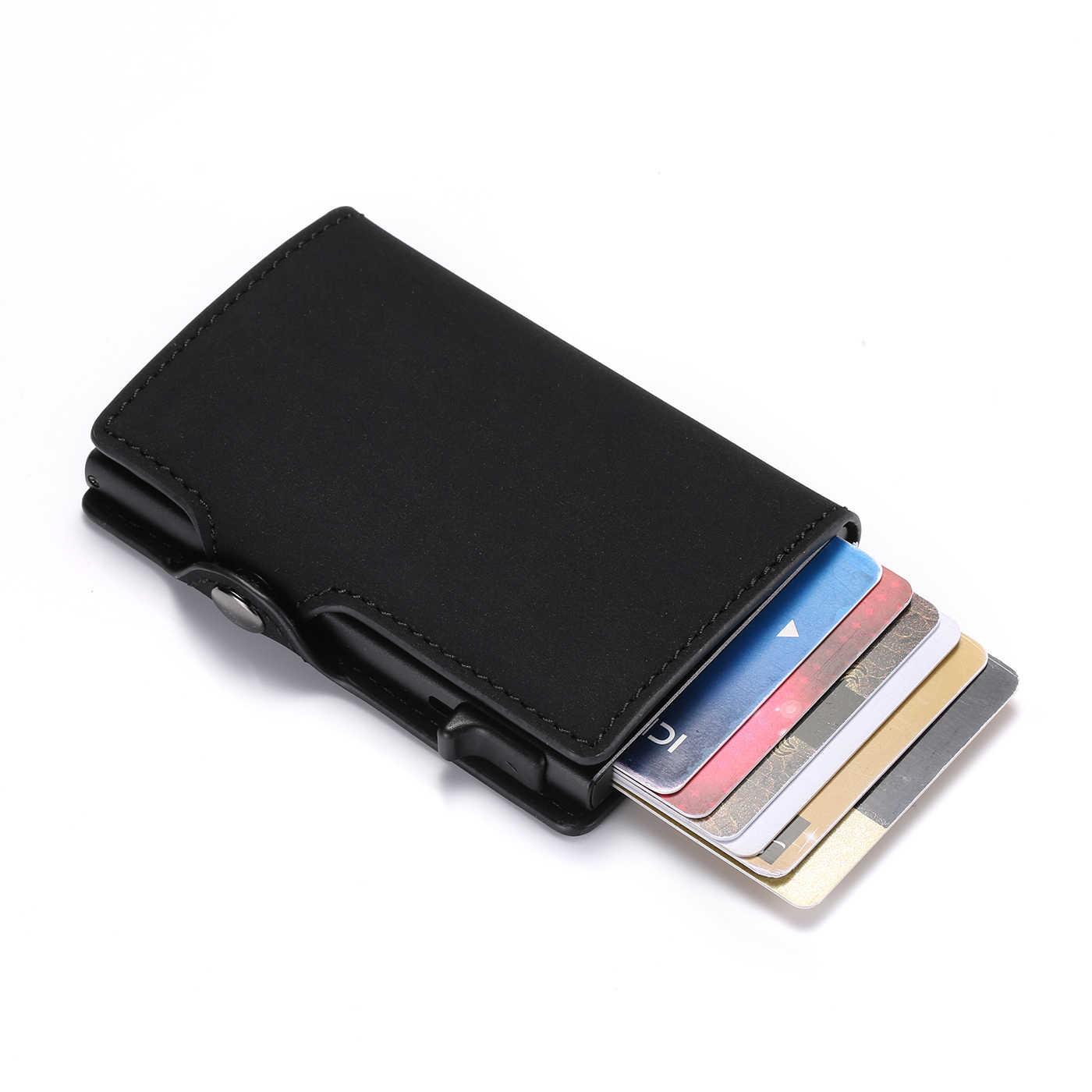 BISI GORO модный кошелек 2019 Новый Винтажный кошелек для карт RFID Тонкий чемодан бизнес роскошный чехол для карт Противоугонная карта оптовая продажа