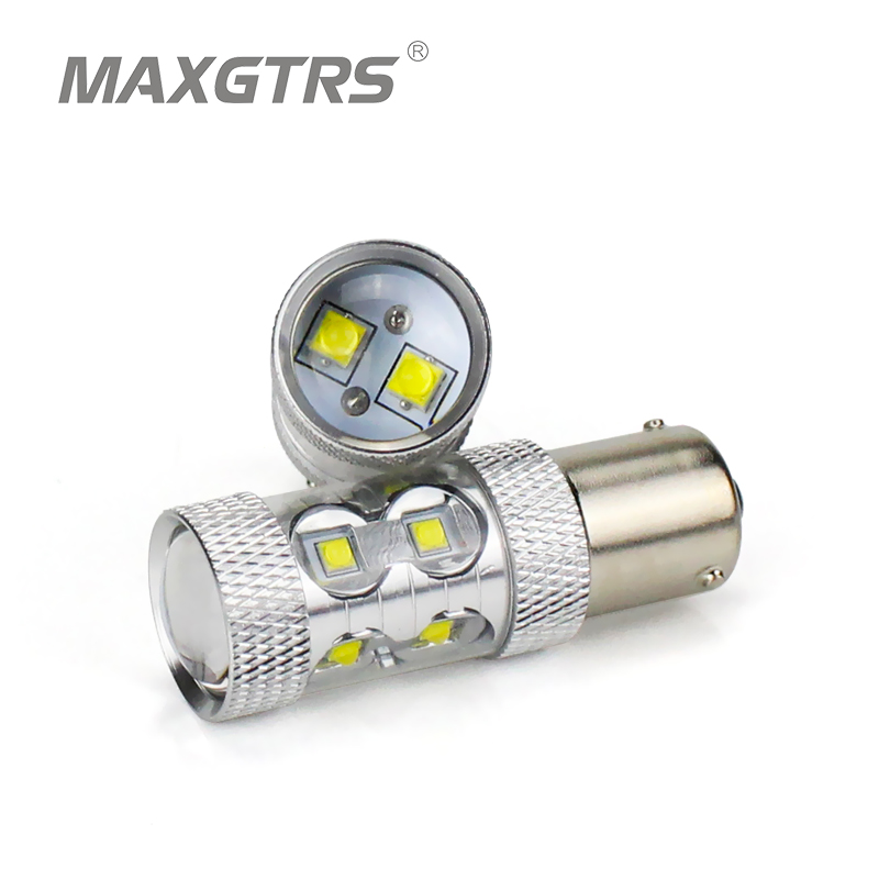 2x High Power Amber Yellow LED CREE Chip BAU15S 7507 PY21W 1156PY LED Bulbs For Front Turn Signal Light Rear Direction Indicator 2pcs canbus bau15s py21w error free 1156py amber yellow 36 led 5730smd 7507 bulbs indicator front rear turn signal light