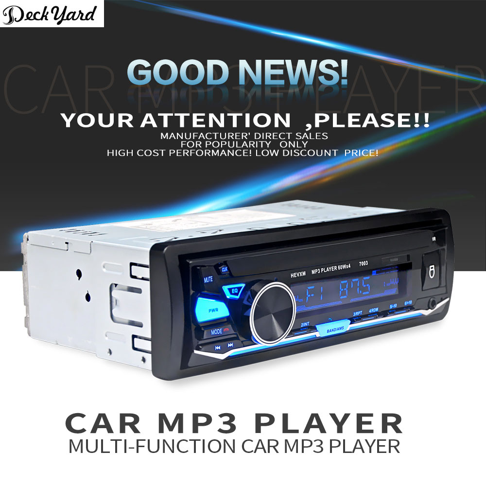 deckyard 12v 7003 new arrival bluetooth in dish car automagnitoldeckyard 12v 7003 new arrival bluetooth in dish car automagnitol radio cassette recorder one din stereo audio player in car radios from automobiles
