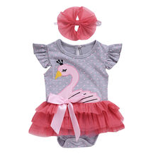 Baby Girl Summer Clothes Outfit Newborn Clothes Cartoon Infant Clothing Kid Clothes Hairband Newborn Clothing Baby Girl Set(China)