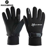 ROCKBROS MTB Cycling Gloves Windproof Winter Fleece Thermal Bicycle Gloves Sport Outdoor Full Finger Ultra thick Bike Glove