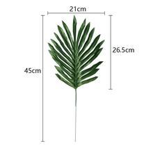 24 шт Искусственный Поддельные реалистичные моделирование тропическим принтом листья зеленые растения гладить листья дерева Свадебные украшения поддельные кокосовый лист
