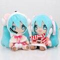 2 unids/set 8 ''20 cm Anime Hatsune Miku VOCALOID Serie Figuras de Juguete de Felpa Muñeca de la Felpa Juguetes