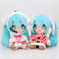 2pcs/set 8'' 20cm Anime Hatsune Miku Plush Doll Toys VOCALOID Series Figures Plush Toy