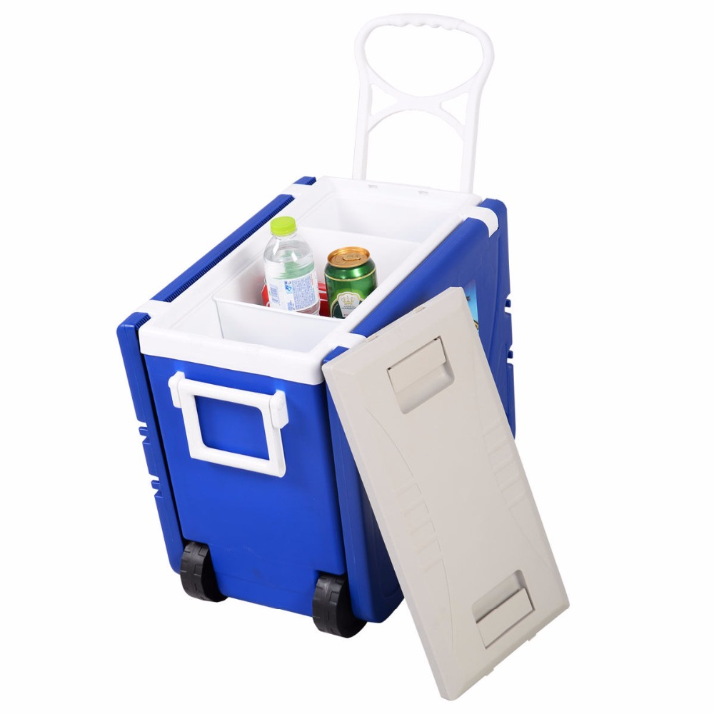 Goplus Multi Function Rolling Cooler Box Picnic Camping Outdoor ...