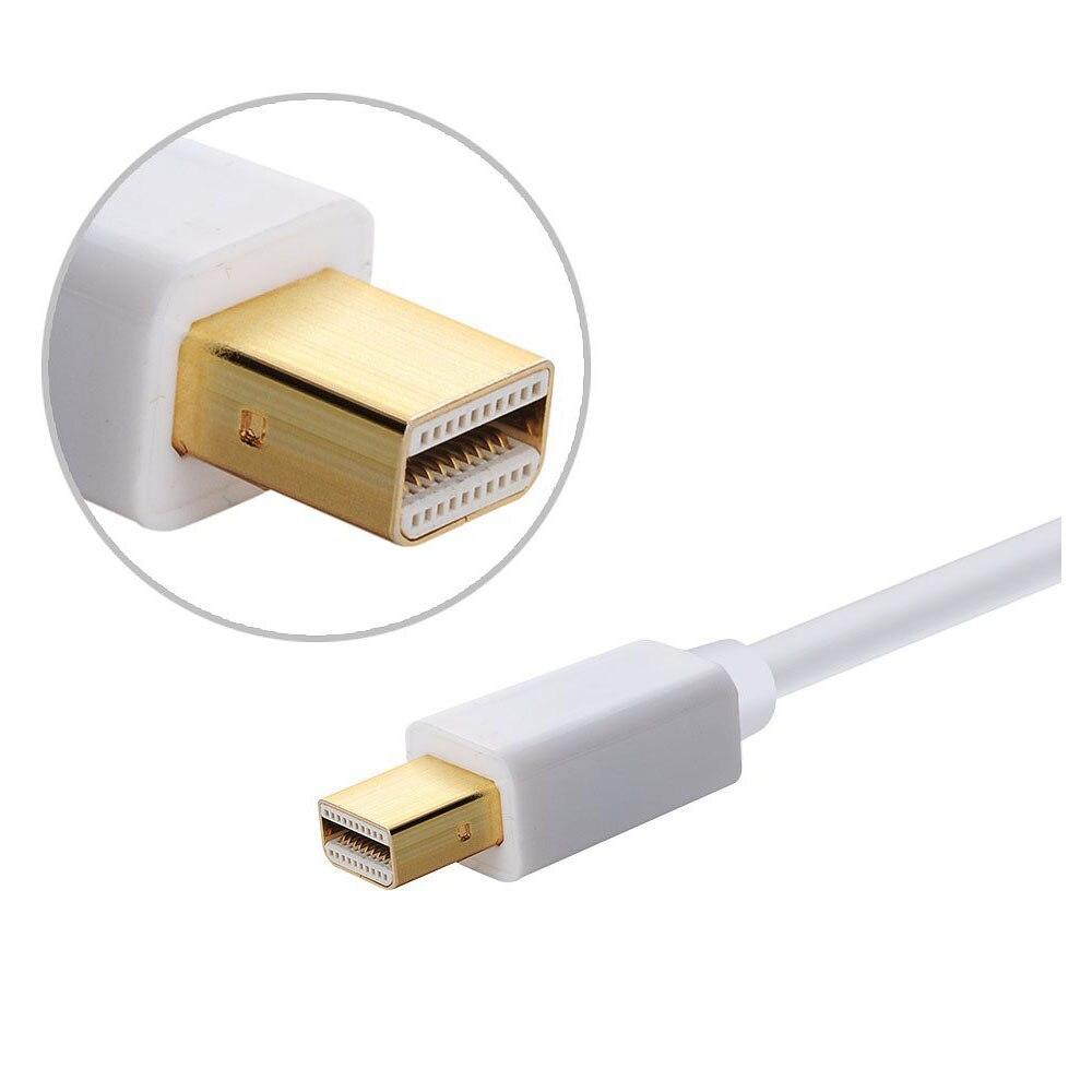 AAAE Top Mini Display Port Mini DP HDMI HDTV AV TV 3D adapter cable for Apple MacBook, MacBook Pro, iMac, MacBook Air