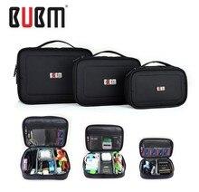 2017 3pcs/set Bubm Travel Square L Digital Storage Bag Electronic Accessories Cable Organizer Hard Drive Pen Case Organizador