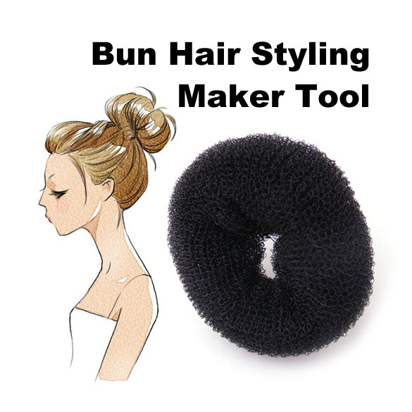 New Arrival  Size 6cm Hair Styling Donut Magic Sponge Bun Ring Maker Former Twist Tool Hair Disk