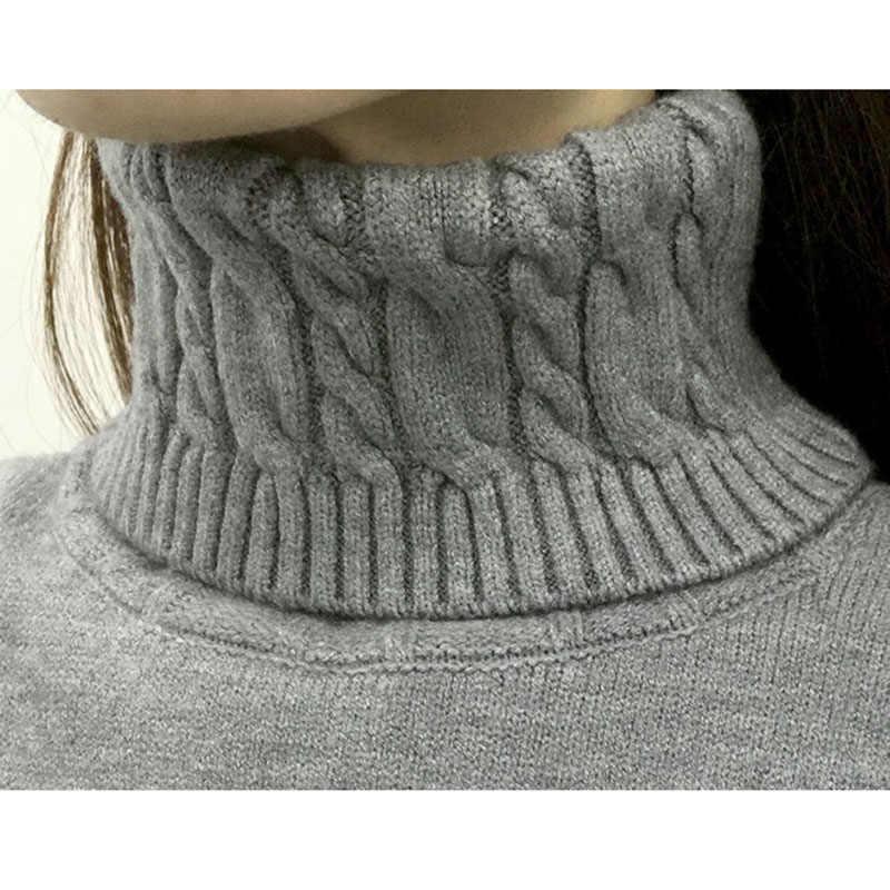 2020new 겨울 두꺼운 따뜻한 여성 터틀넥 스웨터 풀오버 니트 긴 소매 bottoming 스웨터 여성 점퍼 탑스 10 색 26