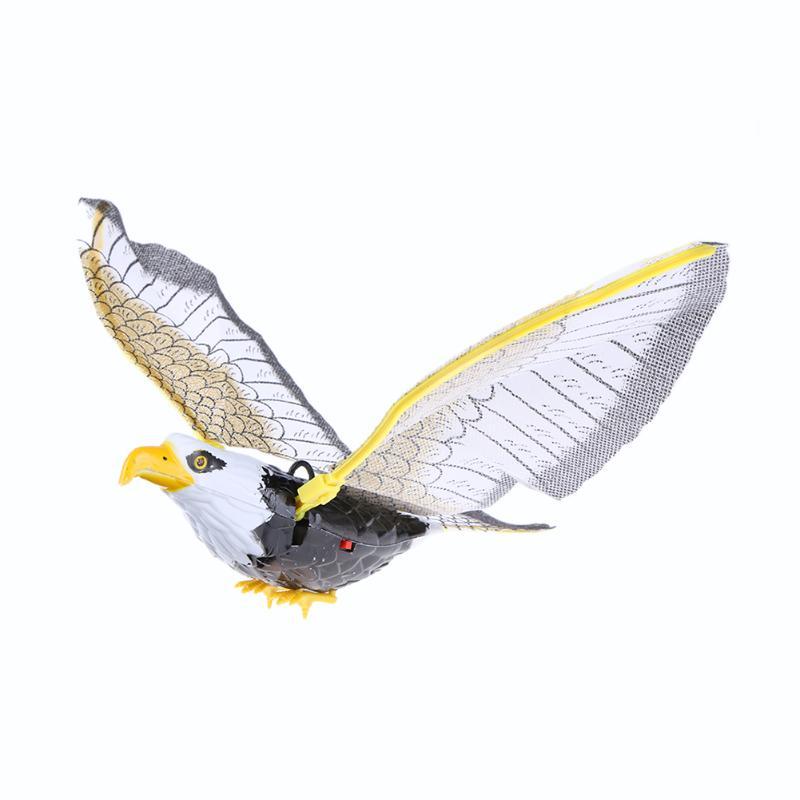 """Электрическая игрушка пластмассовая звуковая летающая игрушка """"Орел"""" для ребенка с питанием от батареи птички детская развивающая игрушка детский подарок на день рождения - Цвет: No Sound"""