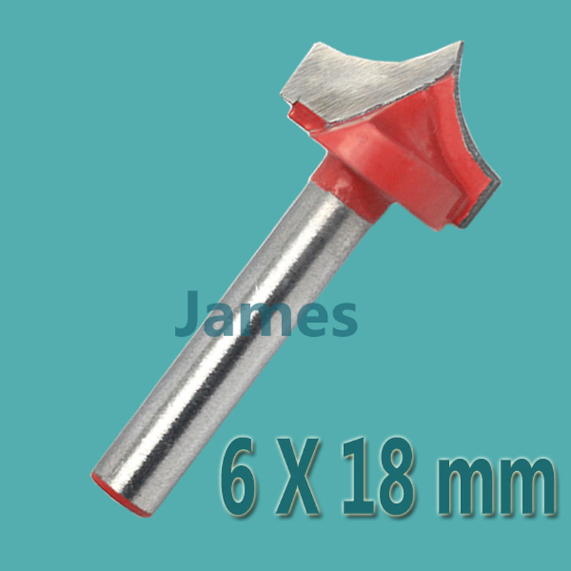 1pc 6*18mm Carbide Wood Making Router End Mill CNC Engraving  V Groove Bits  Milling Tools on Cutting Carving Hard Wood, PVC 6 35 22mm carbide cnc router bits single flute spiral carbide mill engraving bits a series for smooth cutting wood acrylic