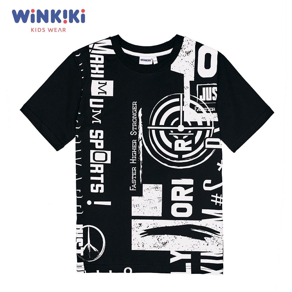 T-Shirts Winkiki WSB91459 T-shirt kids children clothing Cotton Gray Boys Casual