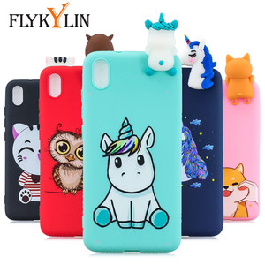 FLYKYLIN 3D Doll Toys Case For Xiaomi Redmi 7A 7 Back Cover on Redmi K20 Phone Coque Redmi7 Soft TPU Silicone Cartoon Shell Skin(China)