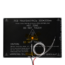 Bigeer! 2015 MK2A 300*200*3.0mm PCB Heatbed RepRap RAMPAS 1.4 + LED + Resistencia + cable + 100 k ohm Theristors PCB hreat cama
