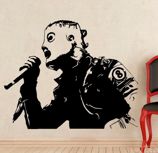 Corey taylor wall decal metal music queen vinyl sticker retro art decor bar studio club restaurant
