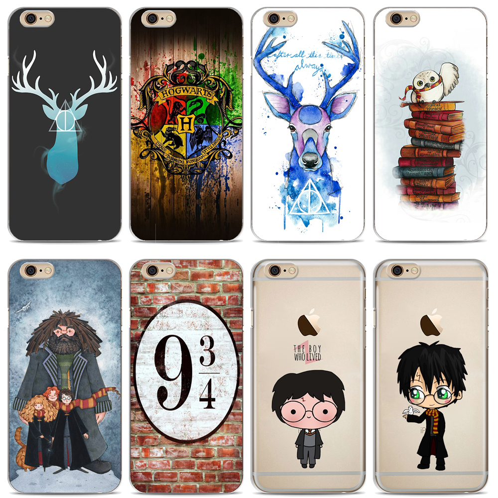 Phone Case Harry Potter Design Soft TPU Clear Transparent Case Cover For Apple iPhone X 8 8Plus 7 7Plus 6 6S 6Plus 5 5S SE Cases
