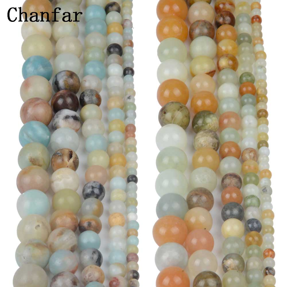 Flower Show Amazonite Beads Women Jewelry DIY Fashion Making Beads 4 6 8 10 12mm