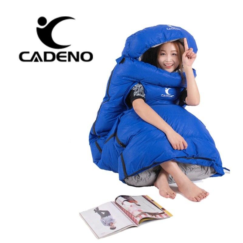超軽量寝袋キャンプ 4 シーズン寝袋冬の寝袋ダウン封筒型キャンプアクセサリー  グループ上の スポーツ & エンターテイメント からの 寝袋 の中 2