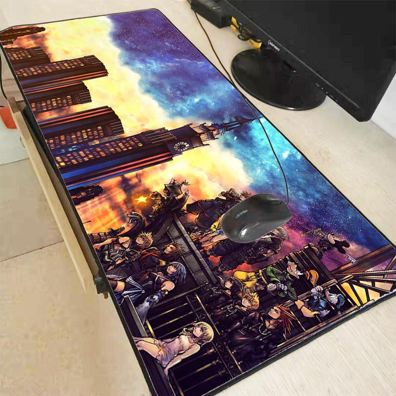 Mairuige Kingdom Heart Pattern Speed Edition Large Gaming Mouse Pad Black Lock Edge MousePad Computer Table Mat Keyboard Pad
