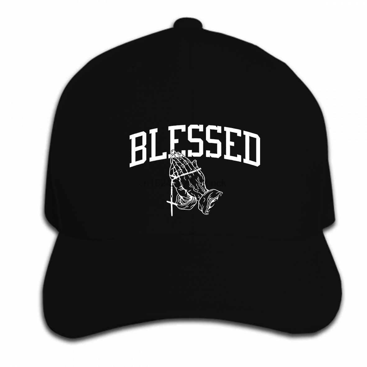 99ffcb065f0aa Print Custom Baseball Cap Hip Hop Blessed Pray Hands Rap Hip Hop Drake  Cross 6 God