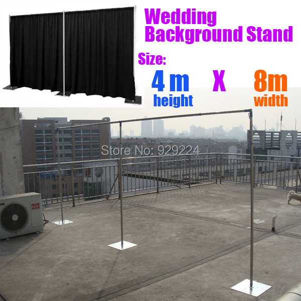 Aliexpress Buy 13ft X 26ft Wedding Backdrop Stand With Expandable Rods Frame Good Quality Wide Stainless Steel Pipe From Reliable