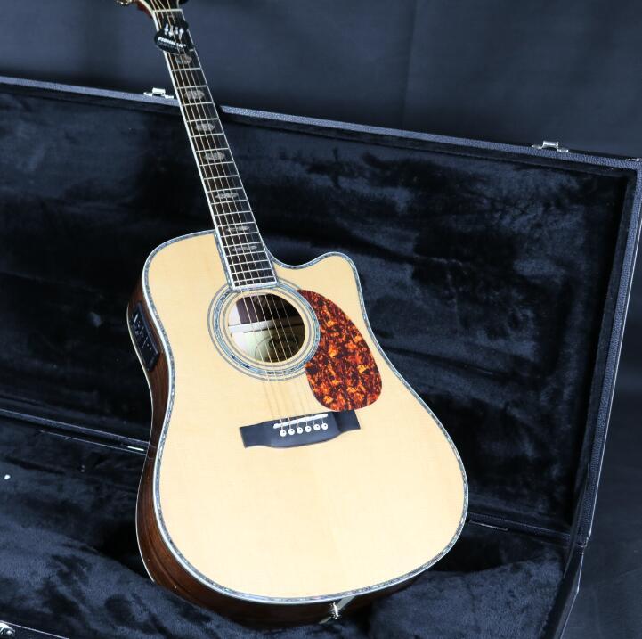 41 ''D45CB Cutway guitare acoustique électrique Fishman EQ table en épicéa massif touche ébène manche en acajou accordeur Grover