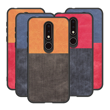 цена For Nokia X6 6.1 Plus Case Soft TPU fabric Capa back cover Ultra-Thin Business Fundas For Nokia 6.1 plus x 6 Cover