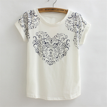 2017 New Summer Aztec Print Tops Short Sleeve Fashion T-shirts