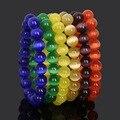 6MM 8MM 10MM Friendship Elastic Rope Charm Bracelet Cat Eye Round Natural Stone Beads Bracelets for Women Men Christmas Gift